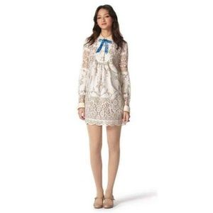 Anna Sui Heirloom Lace Shift Dress